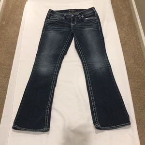 Silver Jeans bootcut dark wash used 28x31